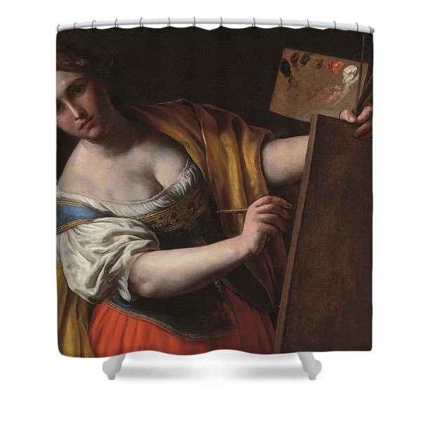 Deatil Of An Allegory Of Painting Shower Curtain