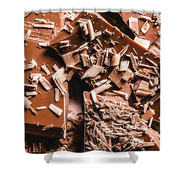 Decadent Chocolate Background Texture Shower Curtain