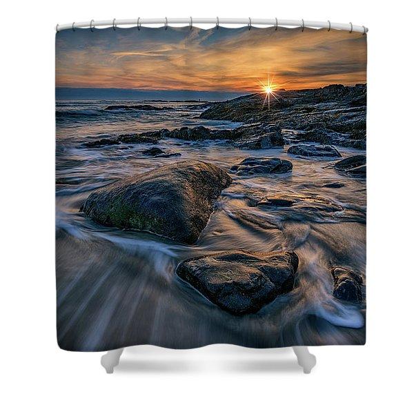 December Sunrise In Ogunquit Shower Curtain