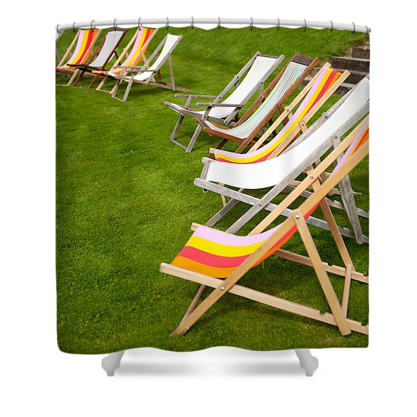 Deck Chairs Shower Curtain