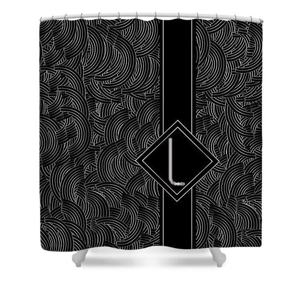 Deco Jazz Swing Monogram ...letter L Shower Curtain