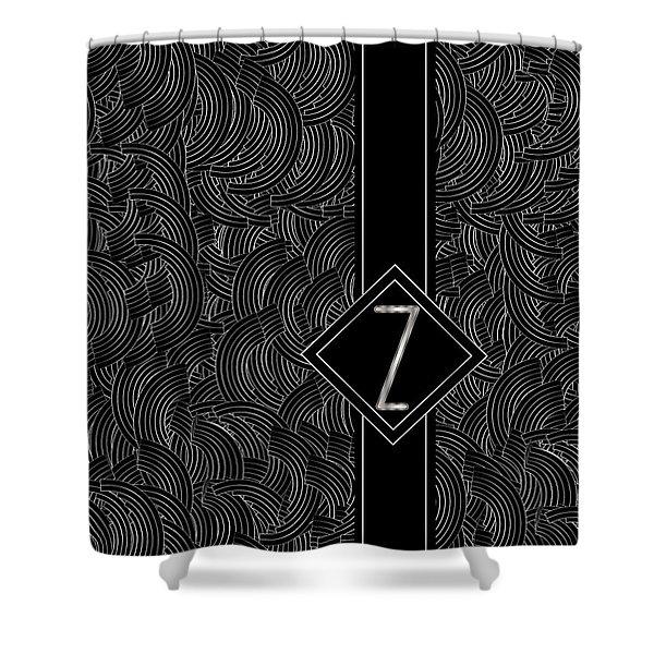 Deco Jazz Swing Monogram ...letter Z Shower Curtain