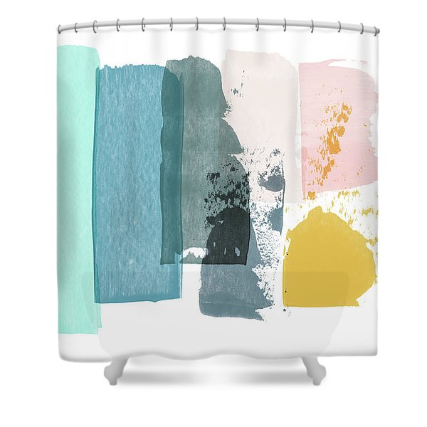 Deconstructed Sunset- Abstract Art By Linda Woods Shower Curtain