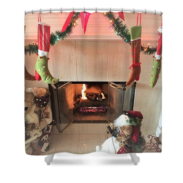 Decorated For The Holidays Shower Curtain