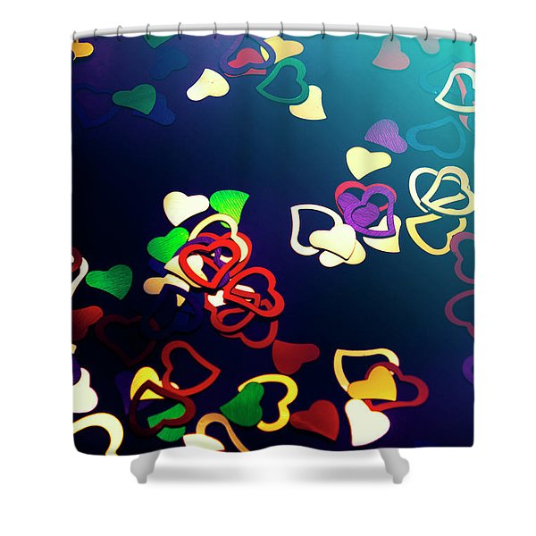 Decorations In Romance Shower Curtain