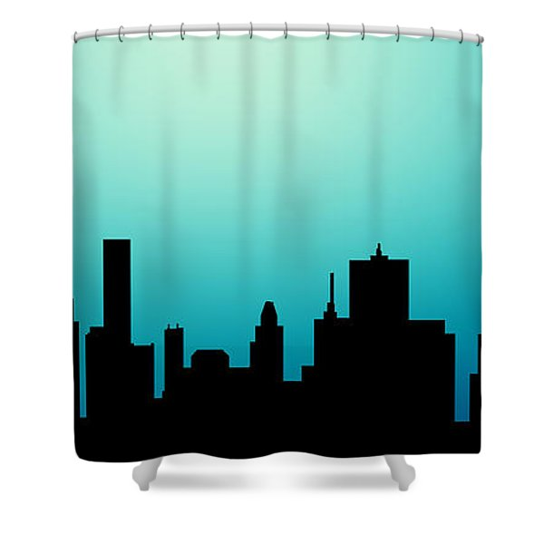 Decorative Abstract Skyline Houston R1115a Shower Curtain