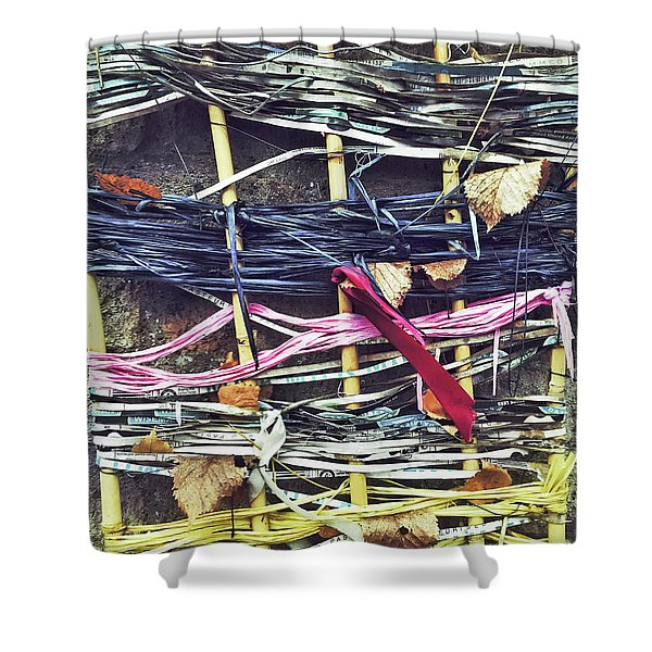 Decorative Colorful Ribbons Shower Curtain