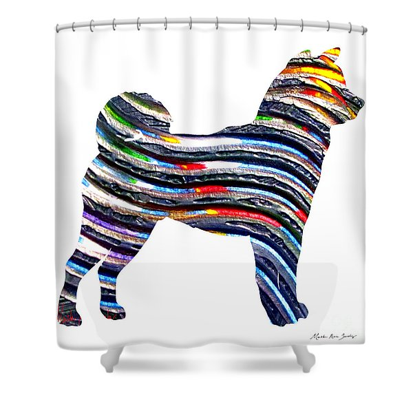 Decorative Husky Abstract O1015b Shower Curtain