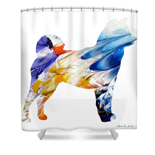 Decorative Husky Abstract O1015e Shower Curtain