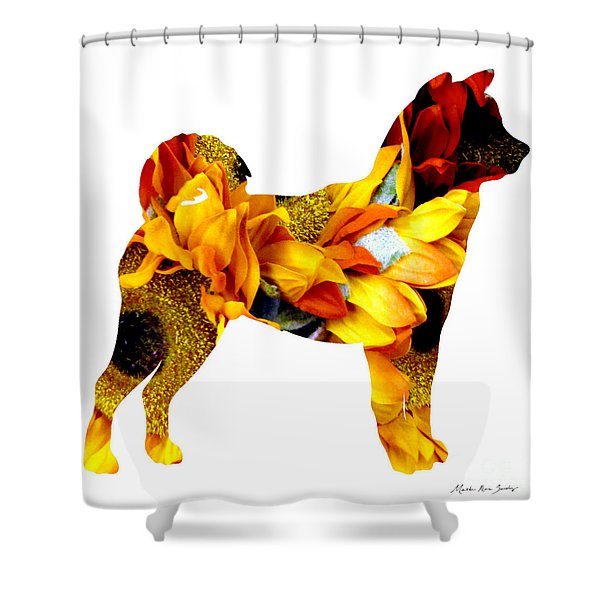 Decorative Husky Abstract O1015g Shower Curtain