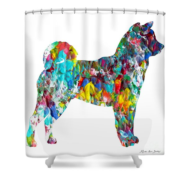 Decorative Husky Abstract O1015h Shower Curtain