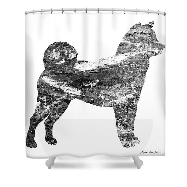Decorative Husky Abstract O1015j Shower Curtain