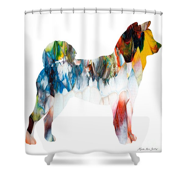 Decorative Husky Abstract O1015l Shower Curtain