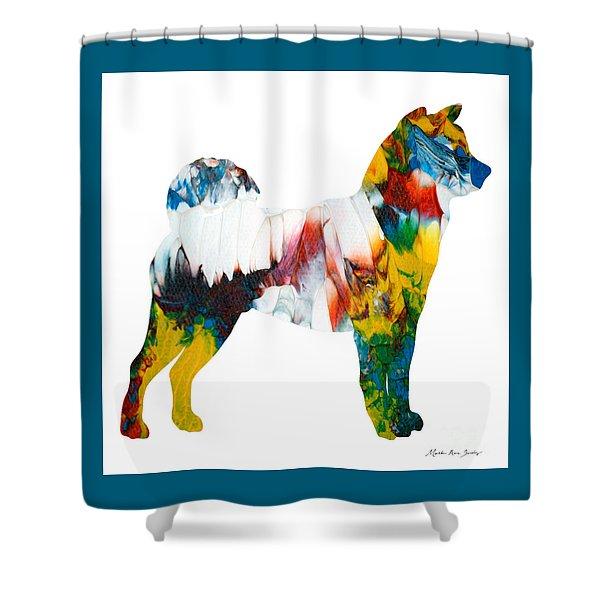Decorative Husky Abstract O1015m Shower Curtain