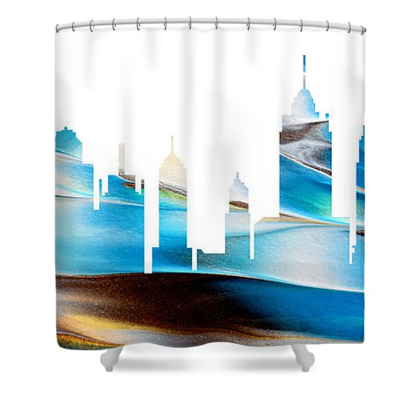 Decorative Skyline Abstract New York P1015a Shower Curtain
