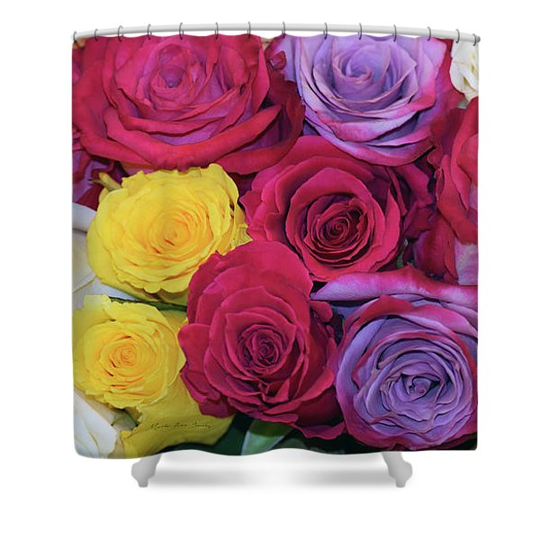 Decorative Wallart Brilliant Roses Photo B41217 Shower Curtain