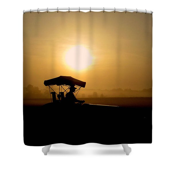 Dedication Of A Farmer Shower Curtain