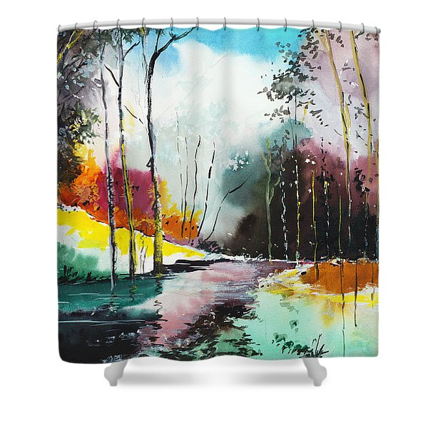 Deep 5 Shower Curtain