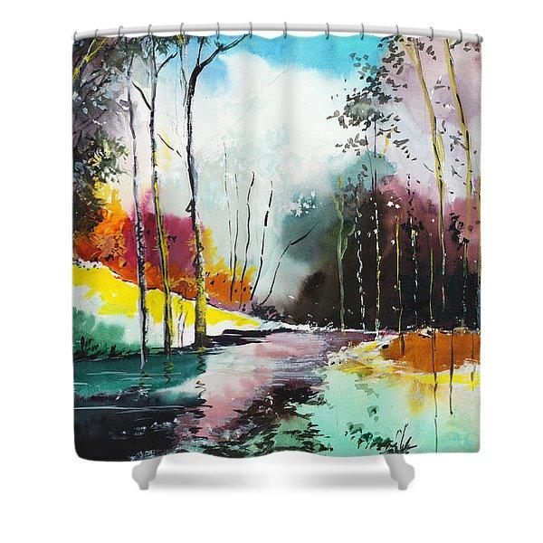 Deep 5 Shower Curtain