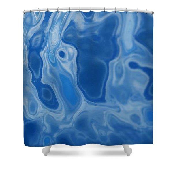 Deep Blue Tide Shower Curtain
