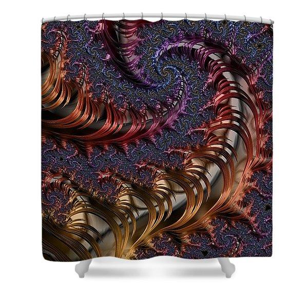 Deep In The Spirals Shower Curtain