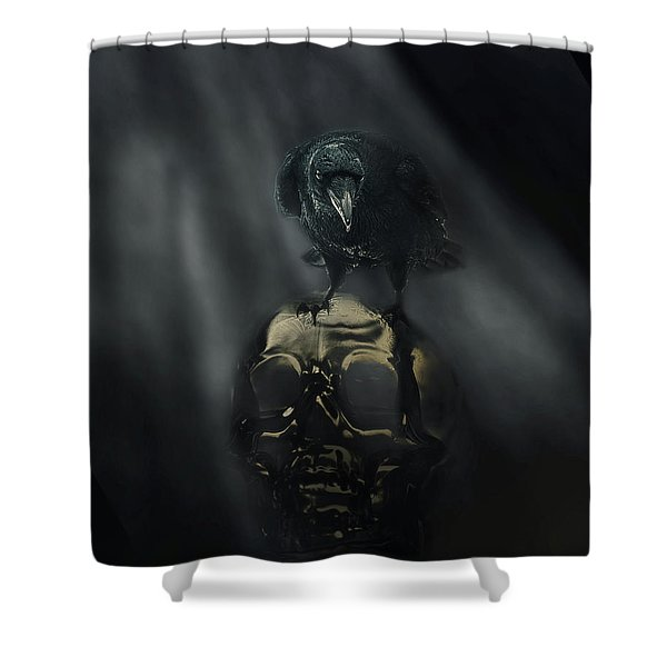 Deep Into That Darkness Peering Shower Curtain