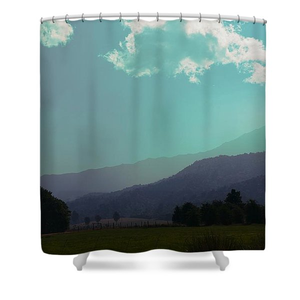 Deep Layers Shower Curtain