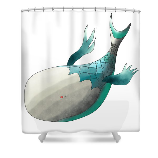 Deep Sea Fish Shower Curtain