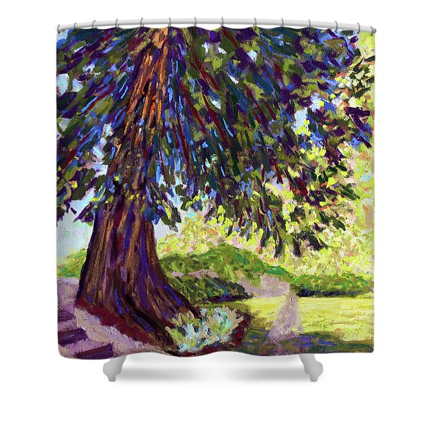 Deep Shade In The Sunken Garden Shower Curtain