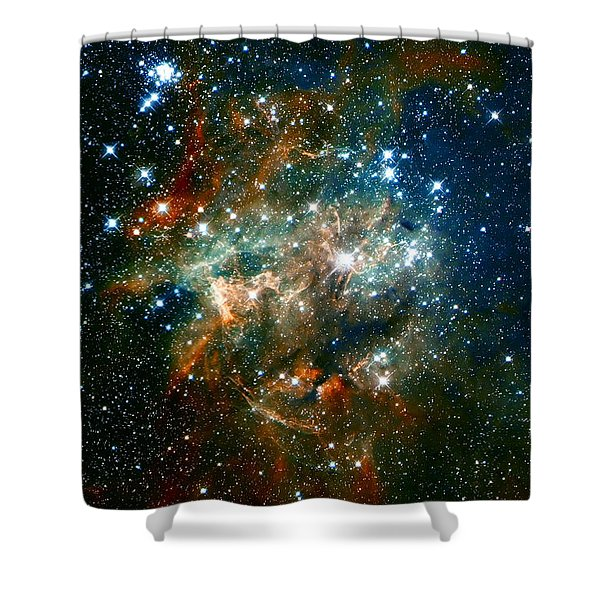 Deep Space Star Cluster Shower Curtain