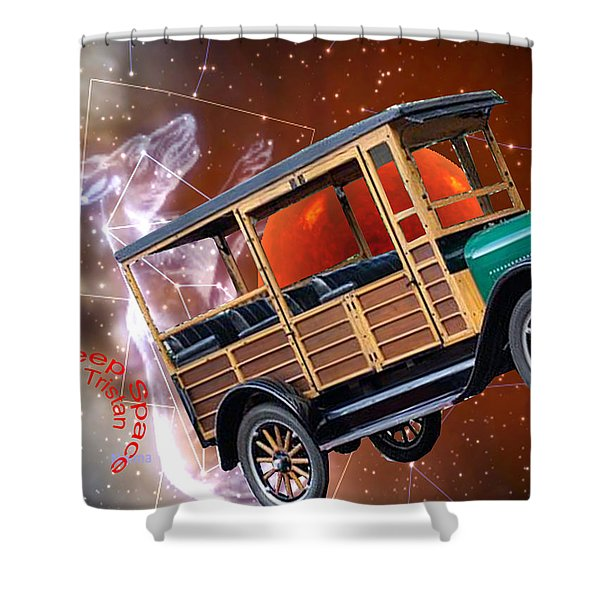 Shower Curtain featuring the digital art Deep Space by Tristan Armstrong