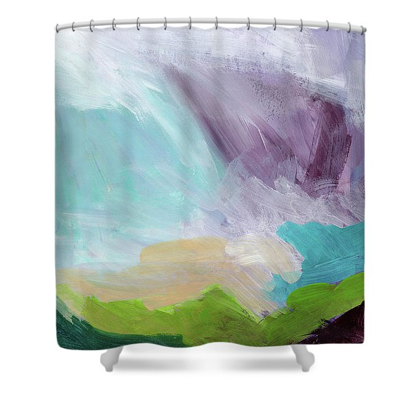 Deepest Breath- Abstract Art By Linda Woods Shower Curtain