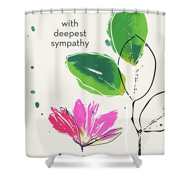Deepest Sympathy Daisy- Art By Linda Woods Shower Curtain
