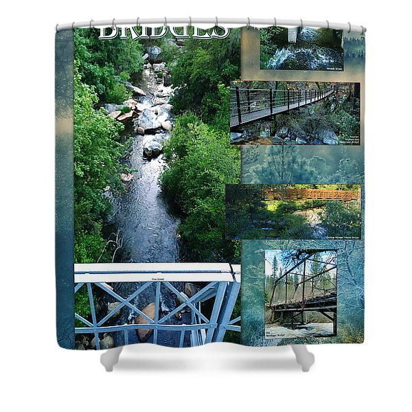 Deer Creek Bridges Shower Curtain