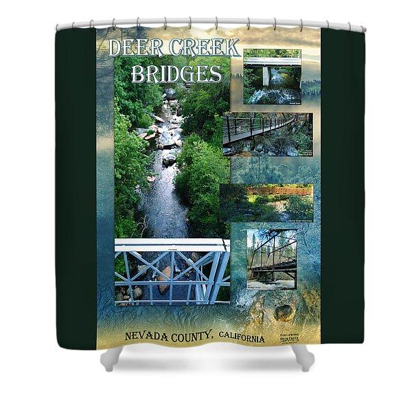 Deer Creek Bridges Shower Curtain