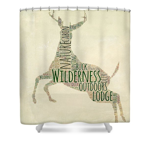 Deer Leaping Shower Curtain