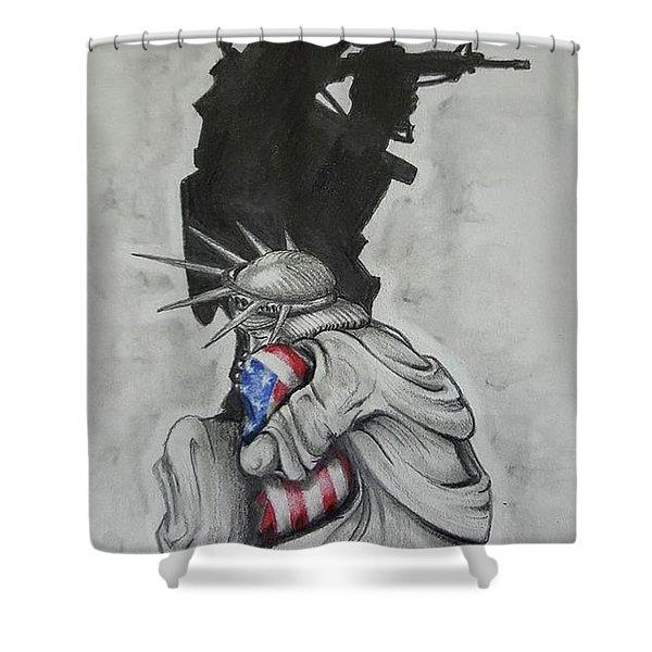 Defending Liberty Shower Curtain
