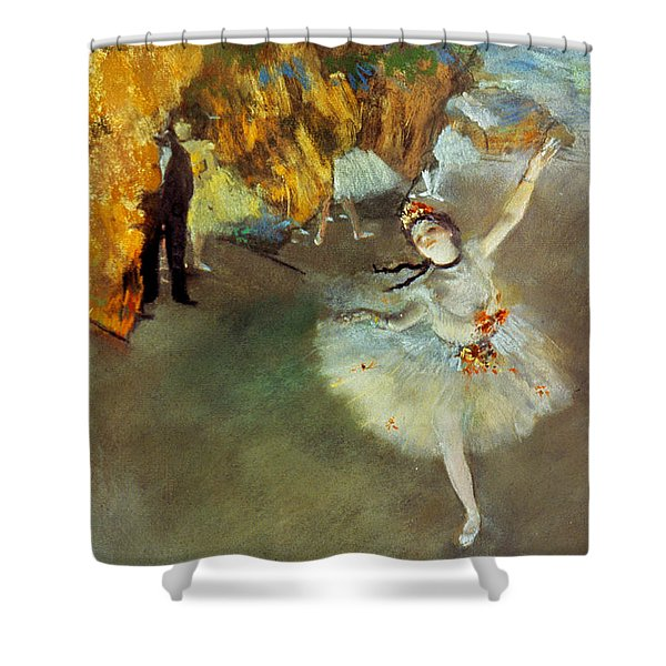 Degas Star, 1876-77. To License For Professional Use Visit Granger.com Shower Curtain