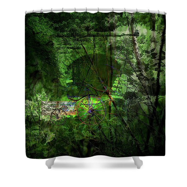 Delaware Green Shower Curtain
