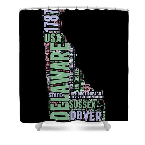 Delaware Word Cloud 1 Shower Curtain
