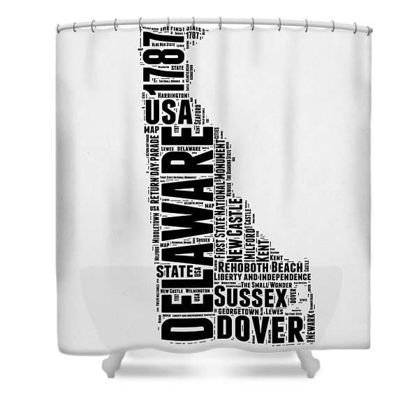 Delaware Word Cloud 2 Shower Curtain
