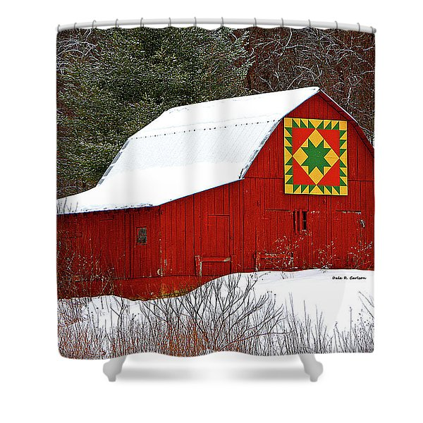 Delectable Mountains Snow Shower Curtain