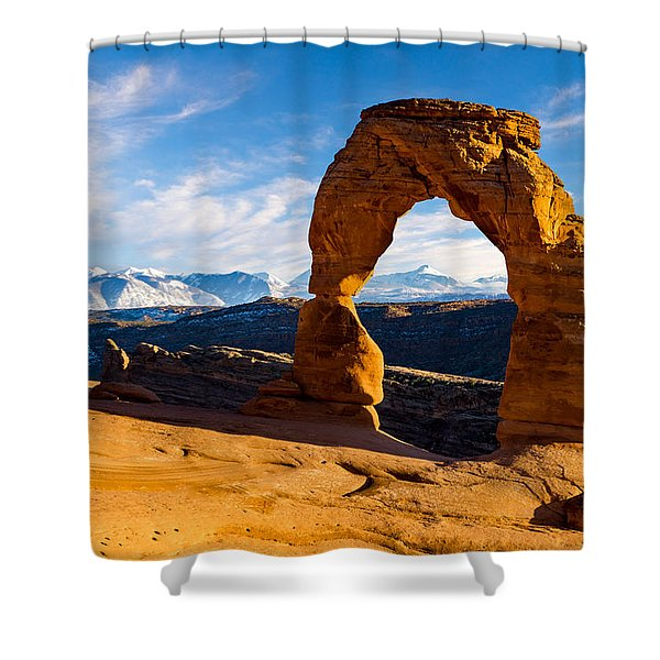 Delicate Arch And The La Sal Mountains Shower Curtain