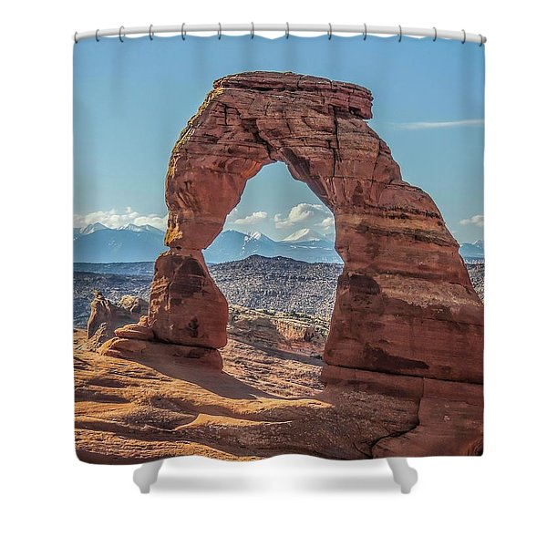 Delicate Arch In Early Morning Shower Curtain