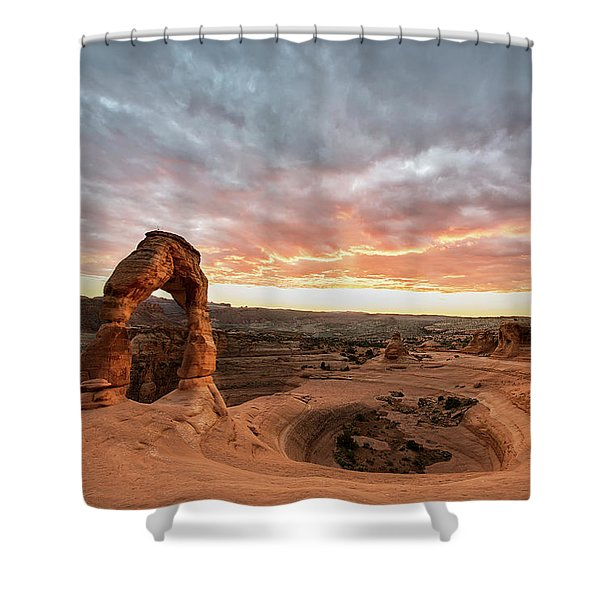 Delicate At Sunset Shower Curtain