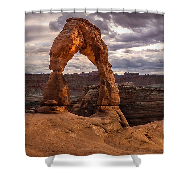 Delicate Glow Signature Shower Curtain