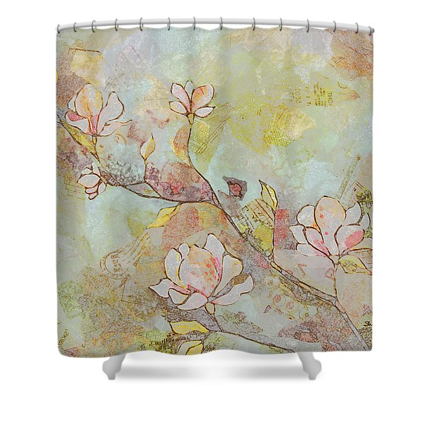 Delicate Magnolias Shower Curtain