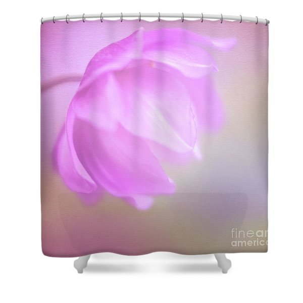 Delicate Pink Anemone Shower Curtain