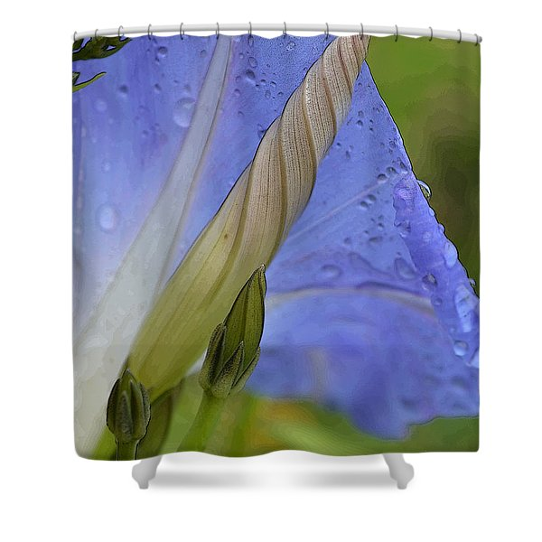 Delicate Toxin Shower Curtain