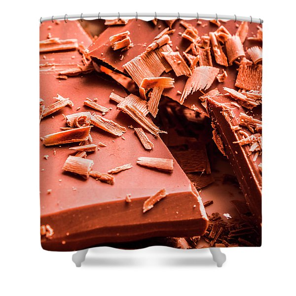 Delicious Bars And Chocolate Chips  Shower Curtain